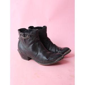 Durango Boho Leather Ankle Boots